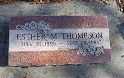 Esther M <I>Anderson</I> Thompson
