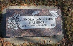 Lenora <I>Anderson</I> Hawthorn