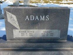 Minnie <I>Nance</I> Adams