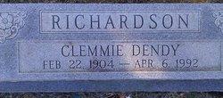 Clemmie Elizabeth <I>Dendy</I> Richardson