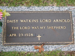 Daisy Lord <I>Watkins</I> Arnold