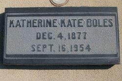 """Katherine Elizabeth """"Kate"""" <I>Williams</I> Boles"""