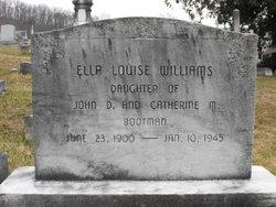 Ella Louise <I>Bootman</I> Williams