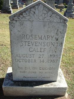 Rosemary <I>Stevenson</I> Calef