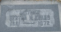 Bertha Wilhemina <I>Nelson</I> Evans