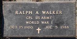 Ralph A Walker
