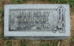 Jane <I>Miley</I> Robinson