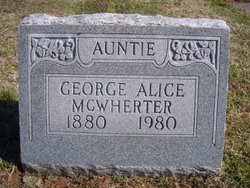 George Alice McWherter