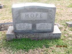 Janie Permelia <I>Bagwell</I> Hope
