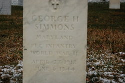PFC George H Simmons