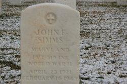 Pvt John E Simms