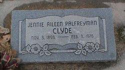 Jennie Aileen <I>Palfreyman</I> Clyde