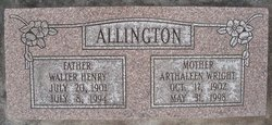 Arthaleen <I>Wright</I> Allington