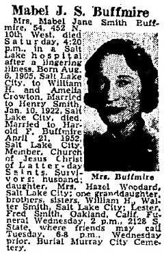 Mabel Jane <I>Smith</I> Buffmire