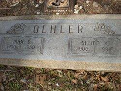 Selma Katherine <I>Lange</I> Oehler