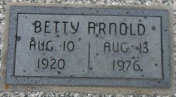 Betty <I>Moore</I> Arnold