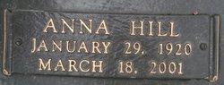 Anna <I>Hill</I> Adams