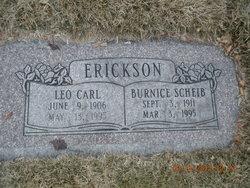 Burnice <I>Scheib</I> Erickson