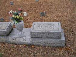 Annie Mae <I>Yancy</I> Allen