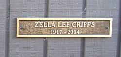 Zella Lee <I>Gray</I> Cripps