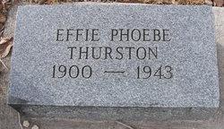 Effie Phoebe <I>Reedy</I> Thurston