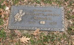 Elizabeth Jordan Koponick