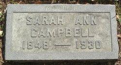 Sarah Ann <I>Rushton</I> Campbell