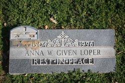 Anna W. <I>Given</I> Loper