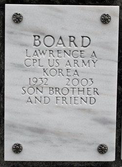 Corp Lawrence Albert Board