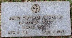 Maj John William Andre, III