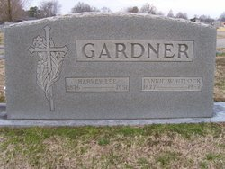Fannie <I>Whitlock</I> Gardner
