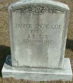 Fannie Snow <I>Cox</I> Tune