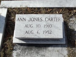 Ann <I>Jones</I> Carter