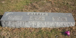 """Anna Belle """"Annie"""" <I>Sneed</I> Barber"""