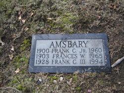 Frances <I>Wright</I> Amsbary