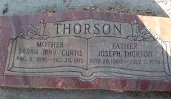 Sarah May <I>McFayden Curtis</I> Thorson