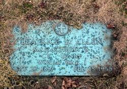 Beatrice D. <I>Manson</I> Allen