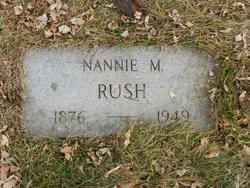 """Nancy M """"Nannie"""" <I>Harsin</I> Rush"""