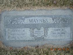 Jeanne <I>Walters</I> Maynes