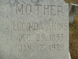"Lucinda ""Lou"" <I>Cheek</I> Akins"
