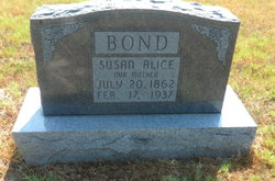 Susan Alice <I>Logan</I> Bond