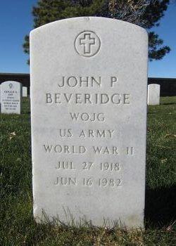 John P Beveridge