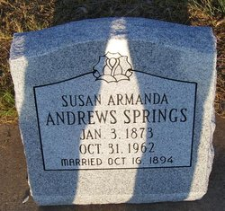 Susan Armanda <I>Andrews</I> Springs