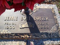 Jennie Mae <I>Bolt</I> Boyter
