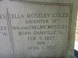 Ella <I>Mosley</I> Coles