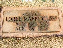 Annie Loree <I>Mabrey</I> Law