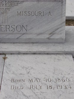 Missouri Ann Virginia <I>Jones</I> Anderson