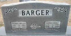 Minnie Bernice <I>Gant</I> Barger