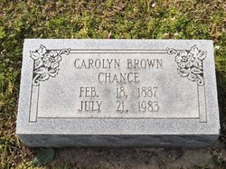 Carolyn <I>Brown</I> Chance