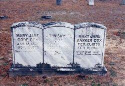 Mary Jane <I>Gore</I> Cox